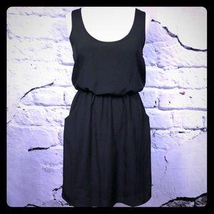 Lush little black dress pockets